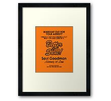 Who You Gonna Call? (Breaking Bad, Better Call Saul) Framed Print