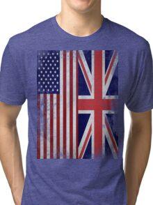 Distressed Flags: American/British Tri-blend T-Shirt