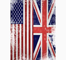 Distressed Flags: American/British Unisex T-Shirt