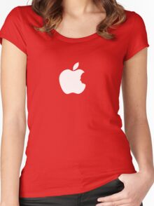 Hitchcock - Apple Logo Women's Fitted Scoop T-Shirt