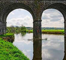 Rail bridge over the River Barrow, at Bagenalstown, County Carlow by Andrew Jones