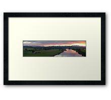 Manning Sunset Panorama Framed Print
