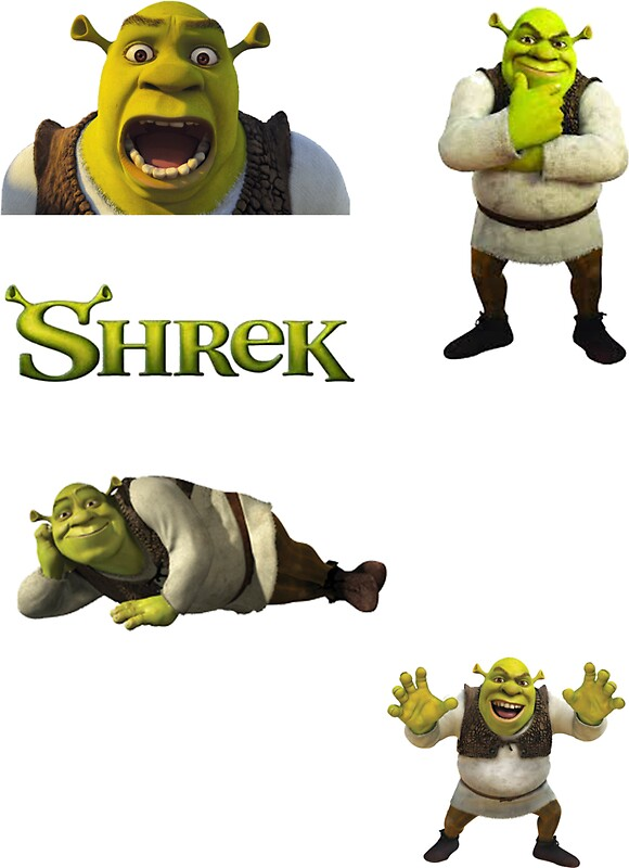 shrek stickers redbubble shrek and donkey car or wall decal sticker removable great