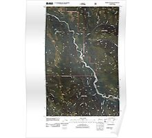 USGS Topo Map Washington State WA Prairie Mountain 20110425 TM Poster