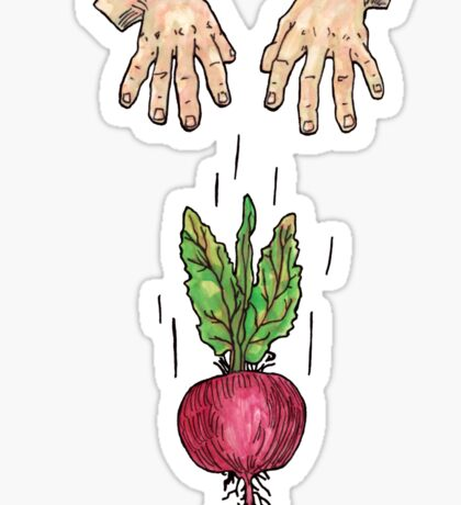 dropping beets Sticker