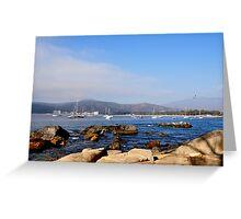 chilean bay Greeting Card