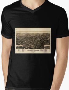 Panoramic Maps View of the city of Tallahassee State capital of Florida county seat of Leon county 1885 Mens V-Neck T-Shirt