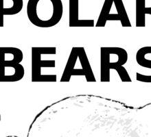 Save the polar bears 2 Sticker