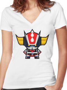 Mekkachibi Grendizer Women's Fitted V-Neck T-Shirt