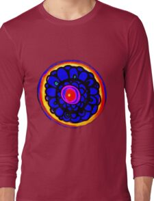 Colorful Floral Pattern Long Sleeve T-Shirt