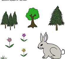 Nature Diorama Stickers  by Rob Price