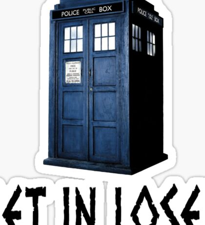 Tardis Ride Sticker