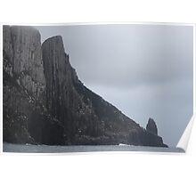 towering basalt rock columns Poster