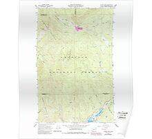 USGS Topo Map Washington State WA Aladdin Mtn 239768 1967 24000 Poster