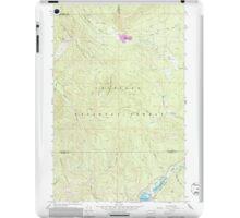 USGS Topo Map Washington State WA Aladdin Mtn 239768 1967 24000 iPad Case/Skin