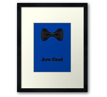 Baby Bow Tie - Jumpsuit - T-Shirt - Are Cool - Clothing Sticker Framed Print