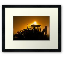 Fog Light Digger Framed Print
