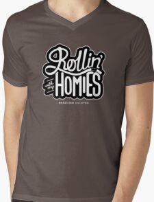 Brazilian jiu-jitsu (BJJ) Rollin' With My Homies Mens V-Neck T-Shirt