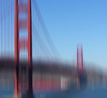 Golden Gate Bridge and white Boat by KUJO-Photo