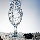 Splash into Wine Glass 1 by Riaan Roux