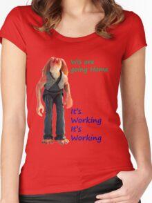 Jar Jar Star wars action figure Women's Fitted Scoop T-Shirt