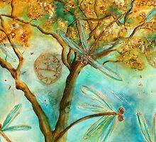 """""""Dragonfly Flirtation"""" (Time is fleeting) by lyndseyart"""