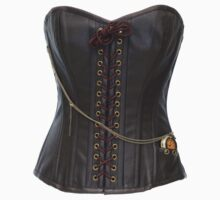 Steampunk Brown Leather Corset by Paul  Green