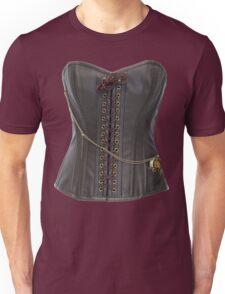 Steampunk Brown Leather Corset Unisex T-Shirt