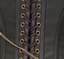 Steampunk Brown Leather Corset Sticker
