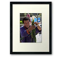 Farmers Market Spring Onions Framed Print