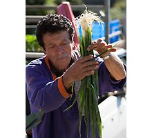Farmers Market Spring Onions Photographic Print