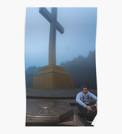 Jesse and Mt Macedon Cross Poster