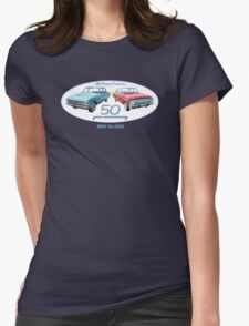 XM Falcon 50 year anniversary (white background) Womens Fitted T-Shirt