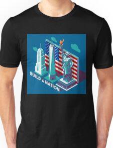 NYC Monuments Landmarks Isometric Unisex T-Shirt