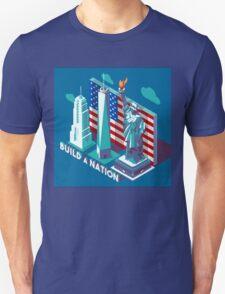 NYC Monuments Landmarks Isometric T-Shirt
