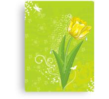 yellow tulip  Canvas Print