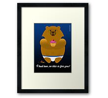 I HAD TWO... Framed Print
