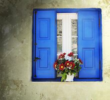 Kalymnos Window by Carol Bleasdale