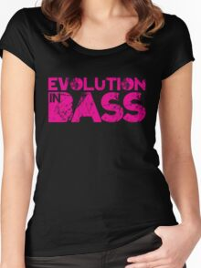 Evolution In Bass Women's Fitted Scoop T-Shirt
