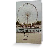 Great Wheel, Paris Greeting Card