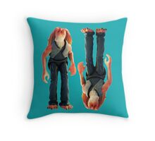 Jar Jar Star wars action figure Throw Pillow