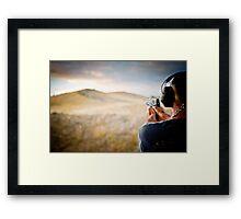 Shooting the Sunset Framed Print