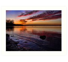 Beautiful Lakeshore Sunset Art Print