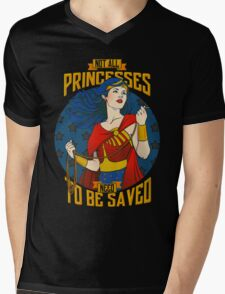 Not all princesses need to be saved Mens V-Neck T-Shirt