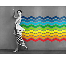 Lady rainbow Photographic Print