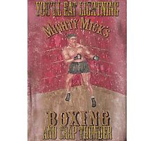 Mighty Mick's Boxing Photographic Print