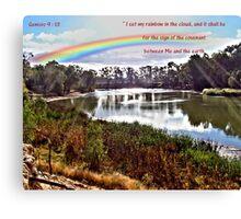 The Rainbow - Covenant - Genesis 9:13 Canvas Print