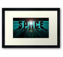 Space Stars Trek Sci fi Framed Print