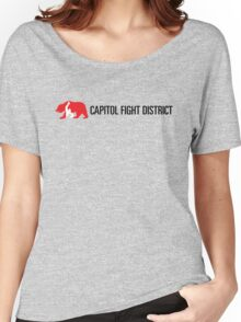 Capitol Fight District Tee with black font Women's Relaxed Fit T-Shirt