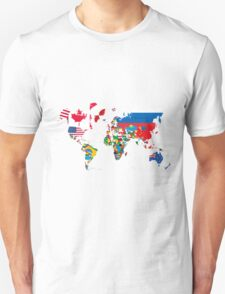Traveler World Map Flags  T-Shirt